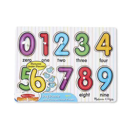 Dřevěné puzzle - Číslice - 4