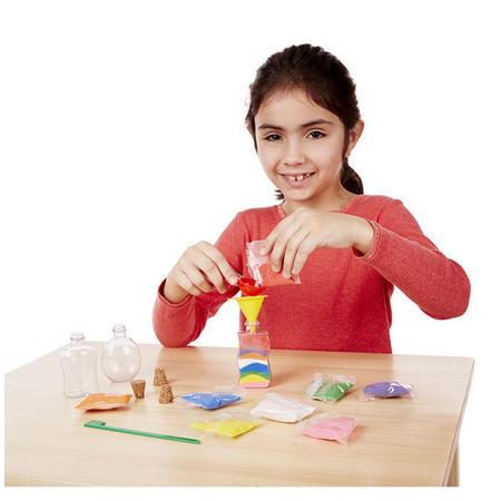 Dekorace barevným pískem /3 lahvičky/ - 4