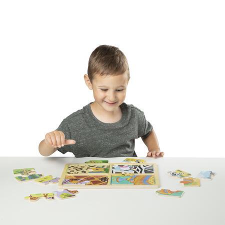 Dřevěné puzzle na cestu Zvířata - 5