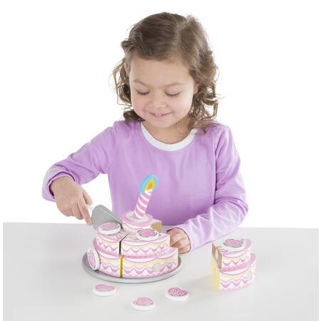 Dřevěný třípatrový narozeninový dort - 5
