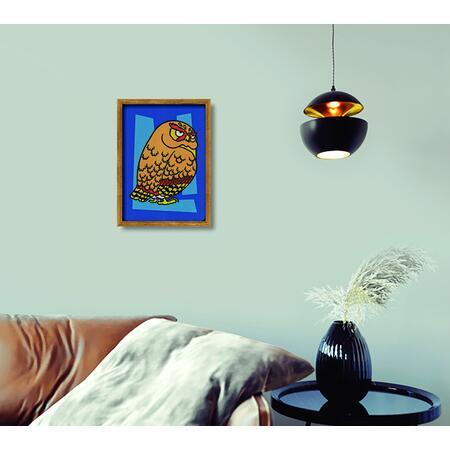 SAND ART - Sova a Jelen - 2x A4 obrázky + rámečky - 5