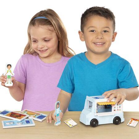 Melissa & Doug - MAGNETIVITY - Pojízdný vůz s občerstvením - 5