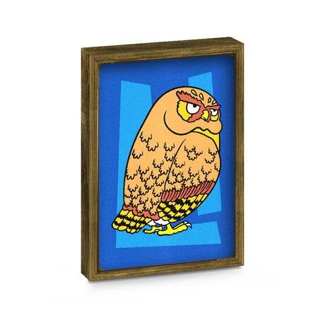 SAND ART - Sova a Jelen - 2x A4 obrázky + rámečky - 6