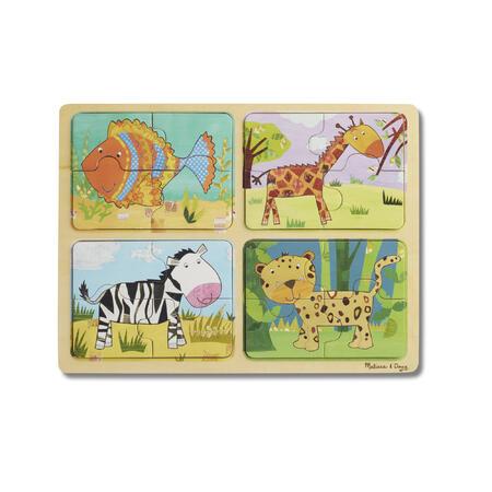 Dřevěné puzzle na cestu Zvířata - 6