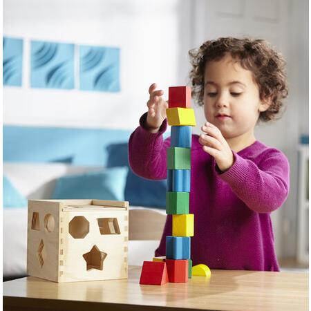 Dřevěná kostka na vkládání tvarů - 6