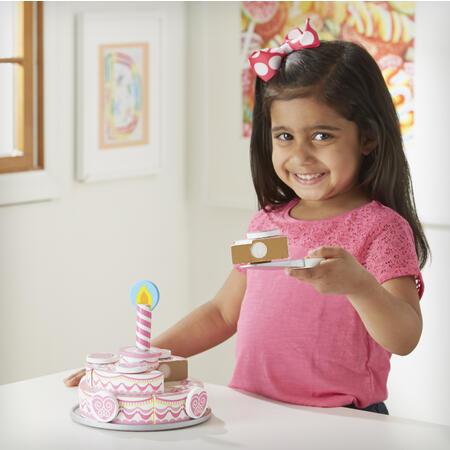Dřevěný třípatrový narozeninový dort - 6