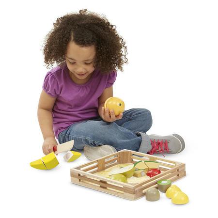 Kuchyňský set ze dřeva - Krájení ovoce - 6