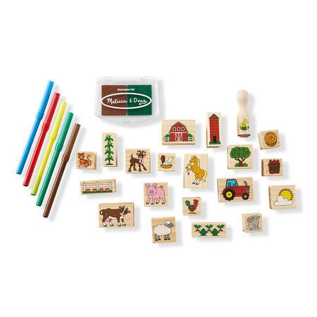 Dřevěná razítka v krabičce - Farma - 6