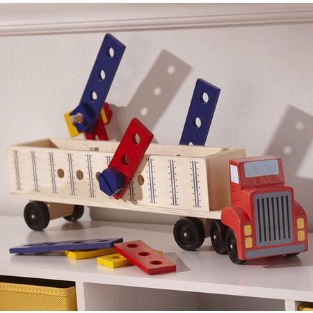 Dřevěná konstrukční stavebnice - auto - 7
