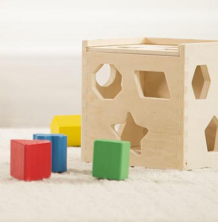 Dřevěná kostka na vkládání tvarů - 7